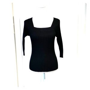 Emmanuel Emmanuel Ungaro  black ribbed top